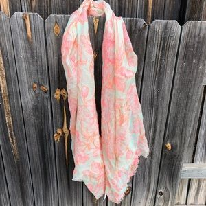 Coral Flower Scarf